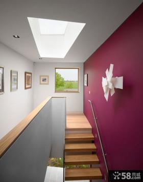 楼梯彩色墙面漆效果图