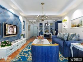 地中海风格客厅电视背景墙效果图大全2013图片