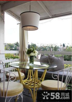 家装客厅小阳台设计效果图