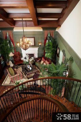 美式乡村风格别墅室内装修效果图大全