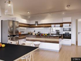 90平米小户型家庭装厨房橱柜修效果图大全2014图片