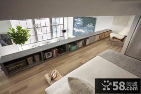 小复式灰色调客厅装修效果图大全2014图片