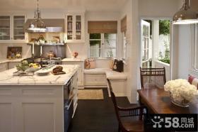 90平米装修样板房开放式厨房整体橱柜
