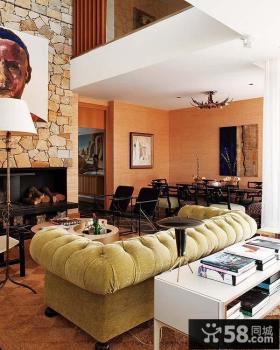 地中海风格别墅客厅装修效果图大全2013图片