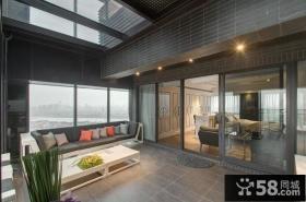 优质美式室内阳台家装设计效果图