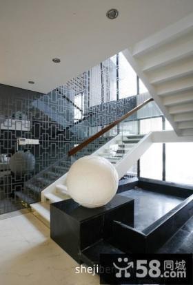 现代风格别墅楼梯装修设计图片