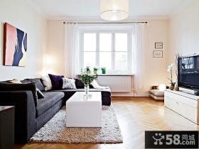 色彩绚丽的简约风格装修客厅图片