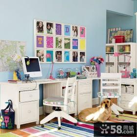 青春女孩书房装修效果图大全2014图片