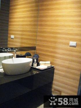 现代别墅室内卫生间装饰设计效果图