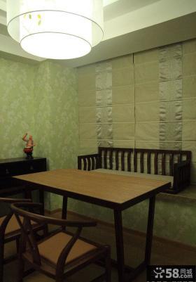 中式风格小户型家装设计效果图