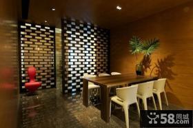 餐厅木隔断装修效果图片
