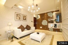 小户型客厅水晶灯装饰效果图
