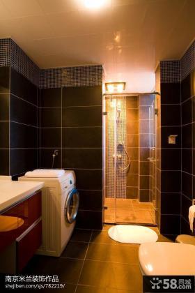 现代风格小型卫生间整体浴室图片