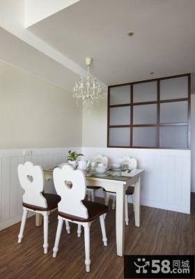 简洁日式风格家居餐厅设计装修效果图