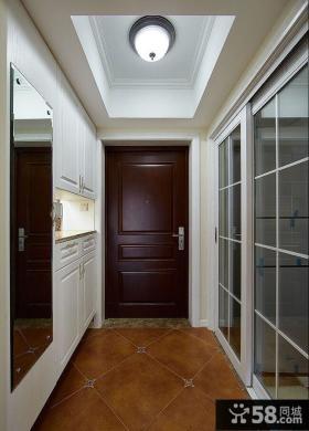 美式风格室内玄关装饰设计效果图