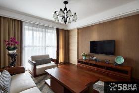 简中式风格客厅电视背景墙设计图片