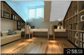 现代简约的复式楼书房装修效果图大全2012图片