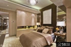 卧室床头挂画背景墙装饰效果图欣赏