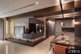 优质简约客厅餐厅过道设计