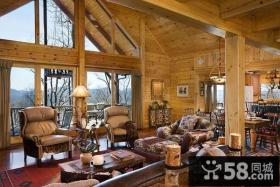 原生态乡村别墅图片大全 浪漫的客厅装修效果图大全2014图片