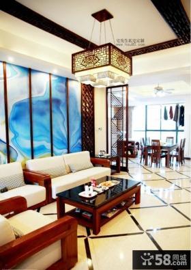 现代中式客厅吊顶效果图大全2013图片