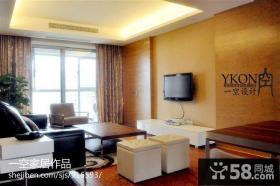 现代风格客厅瓷砖电视背景墙设计图片
