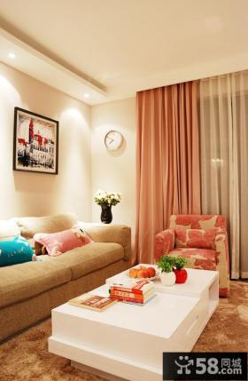 简约风格70平米小户型客厅装修效果图欣赏