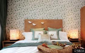 素雅卧室墙纸装修效果图