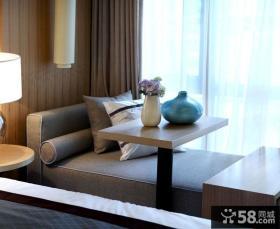 现代简约设计别墅飘窗效果图
