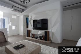 现代家居客厅电视背景墙设计图片
