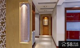 新中式客厅过道装修设计效果图