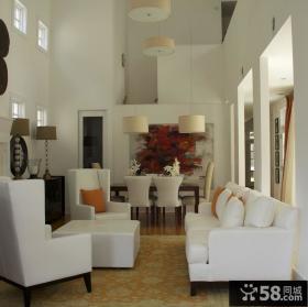 跃层客厅吊顶装修效果图大全2012图片