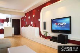 时尚现代家庭电视背景墙装修效果图