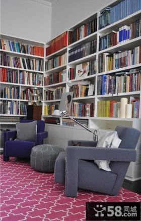 小复式美式风格书房装修效果图大全2012图片