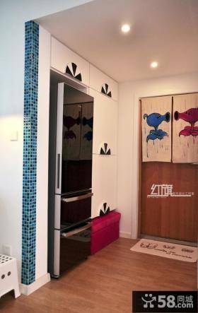 现代进门玄关鞋柜装饰效果图片