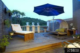 2015欧式别墅室外阳台设计效果图片