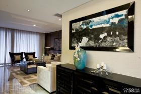 现代风格室内装饰画效果图