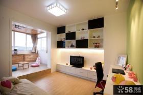 现代欧式90平米二居室婚房卧室装修效果图