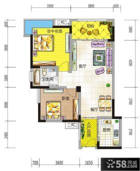 小户型楼房平面图