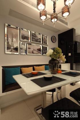 现代风格家庭照片背景墙效果图