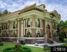 豪华欧式别墅外观设计效果图