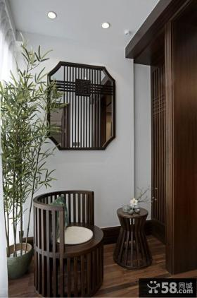 中式家庭设计小阳台图片大全