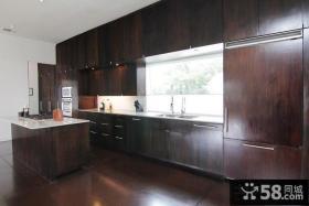 家装现代简约风格厨房整体橱柜设计图片