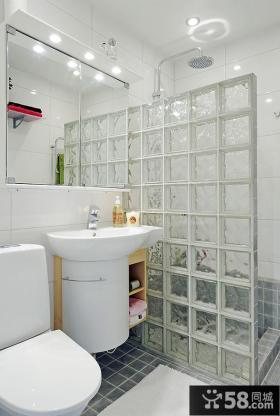 小户型家庭卫生间装修效果图大全