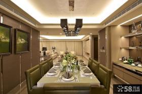 现代精装餐厅效果图片欣赏