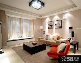 现代简约风格客厅吊顶效果图片