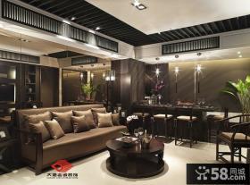 现代中式小户型客厅装修效果图