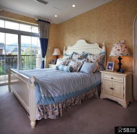 地中海风格设计别墅室内卧室效果图