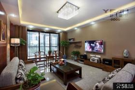 中式风格客厅电视背景墙装饰设计图