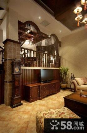 美式风格客厅电视背景墙效果图欣赏大全